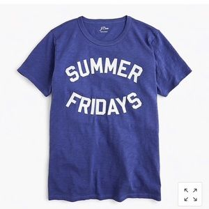 "J-Crew XXS ""Summer Fridays"" Graphic T-Shirt NWT"